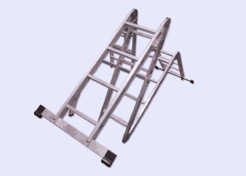 Лестница складная алюминиевая трансформер: обзор конструкции