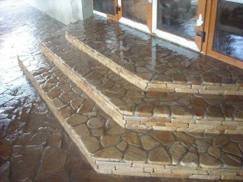 Облицовочная плитка для ступеней крыльца из натурального камня