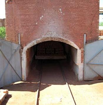 Тоннельная печь обжига плитки