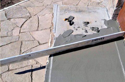 Цементная выравнивающая стяжка
