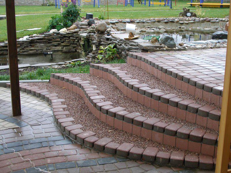 Облицовка тротуарной плиткой (брусчаткой)