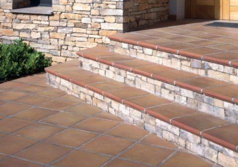 Делаем бетонное крыльцо: комбинированная отделка