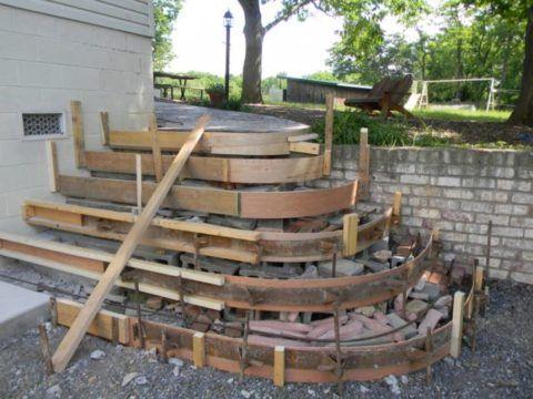 Делаем крыльцо из бетона – опалубка для сложной формы