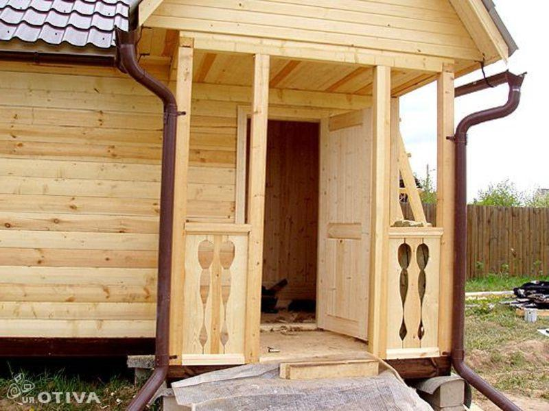 Простое крыльцо к деревянному дому своими руками проекты