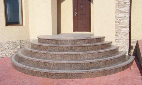 Гранитная плитка для круглых ступеней крыльца