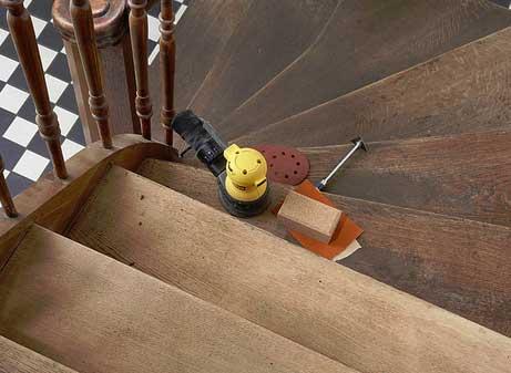 Инструмент для шлифовки лестницы