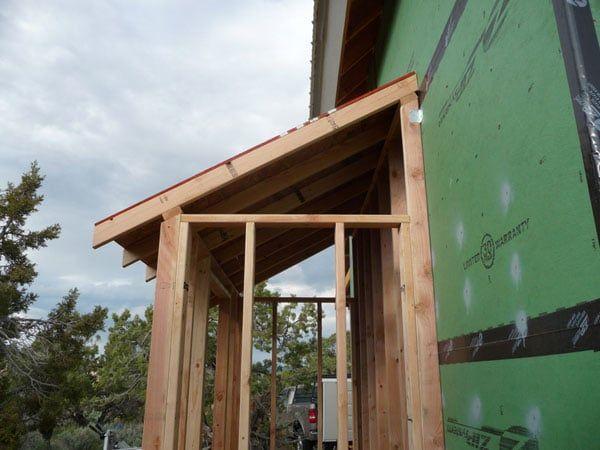 Как сделать деревянный навес над крыльцом своими руками 163