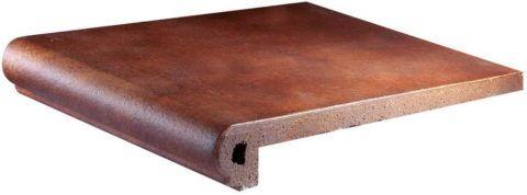 Клинкерная плитка на крыльцо с фигурным торцом