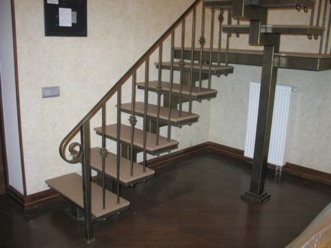 Комбинированная лестница - фото