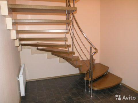 Комбинированные деревянно-металлические лестницы