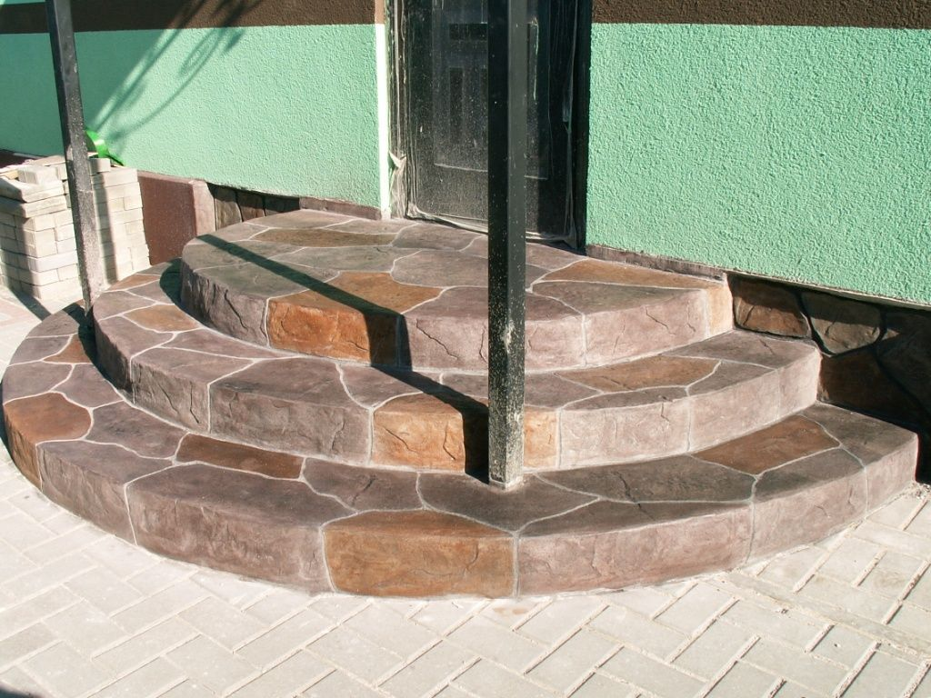 Крыльцо круглое из бетона 164