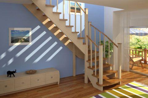 Красота деревянной лестницы стоит затраченных усилий