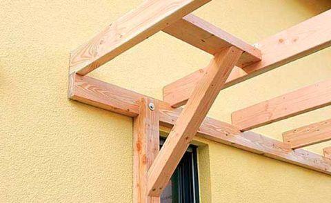 Крепление деревянного каркаса к стене