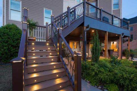 Лестница из древесно-полимерного композита – идеальное решение для наружной конструкции