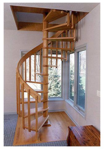 Лестница на опорном столбе