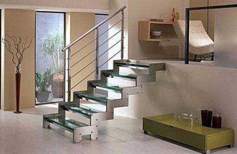 Лестницы металл-стекло