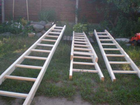 Лестницы со ступенями собранными в шип