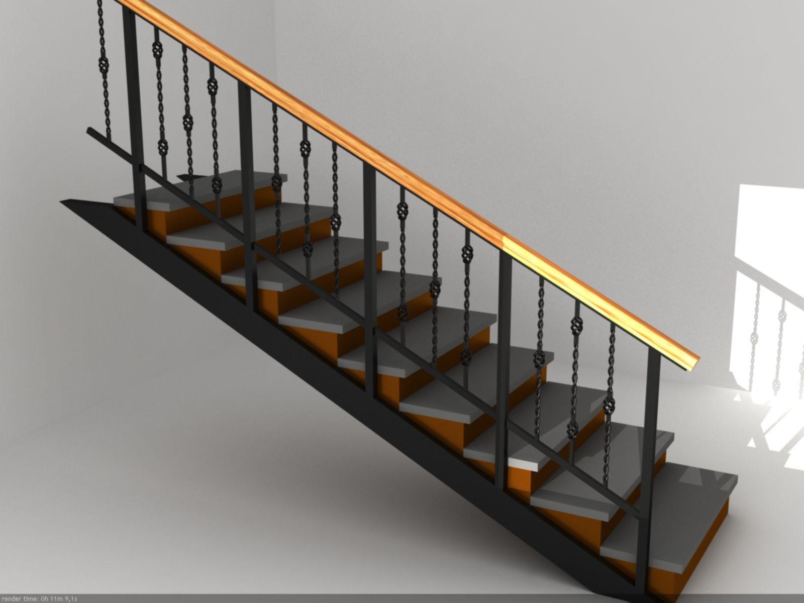 Поручни своими руками лестница