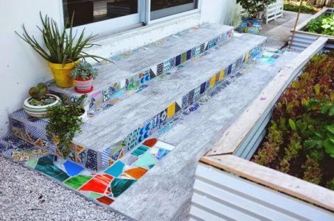 Мозаичная плитка, сделанная своими руками
