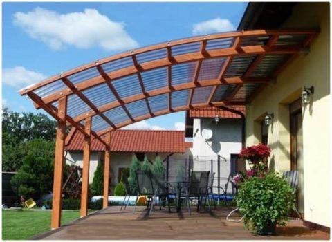 Опорная крыша для крыльца дома