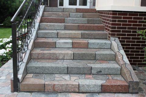 Плитка на крыльцо, на ступени и дорожки из натурального камня