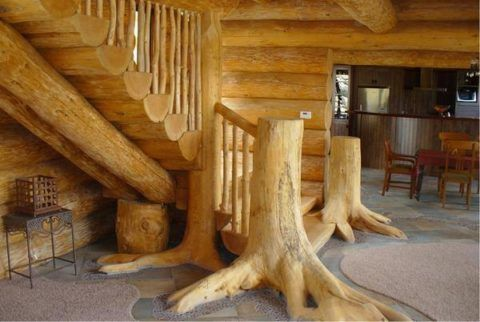 Подобные лестницы уникальны, за что и ценятся