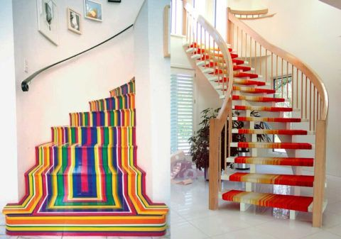 Покраска эмалями деревянных лестниц