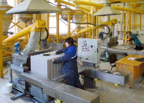 Производство гипсобетонных панелей