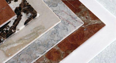 Разнообразие рисунков плит из натурального камня