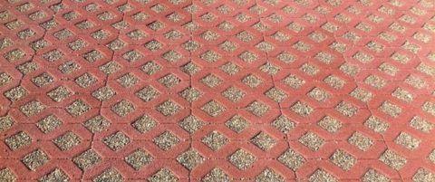 Решетка цвета красного кирпича