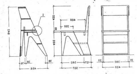 Схема стремянки-табурета