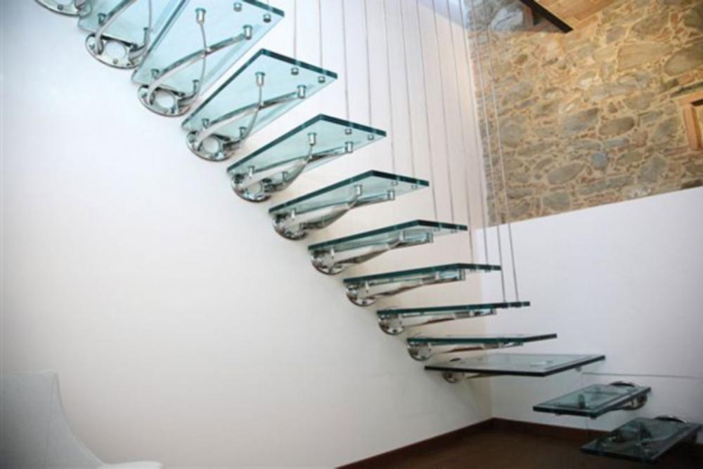 Лестница из стекла своими руками