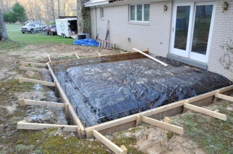 Строительство крыльца из бетона – подготовка основания
