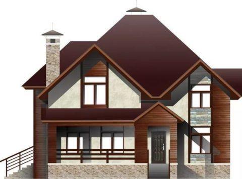 Вариант крыши для мансарды и крыльца