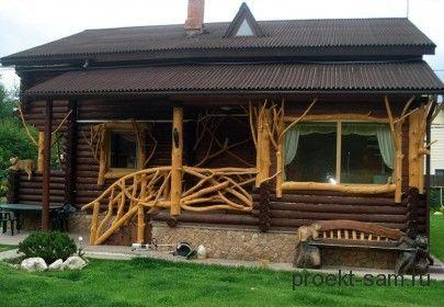 Входное крыльцо из дерева