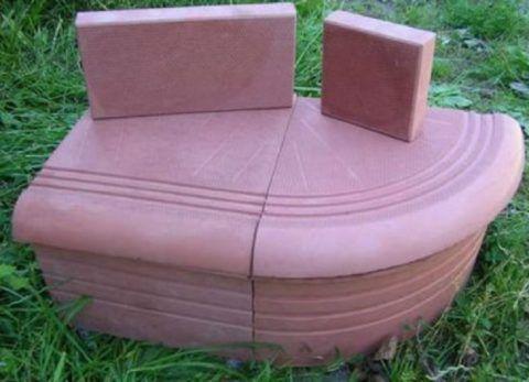 Вот такая для крыльца плитка производится из бетона