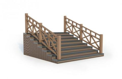Закрытый вариант лестницы из ДПК