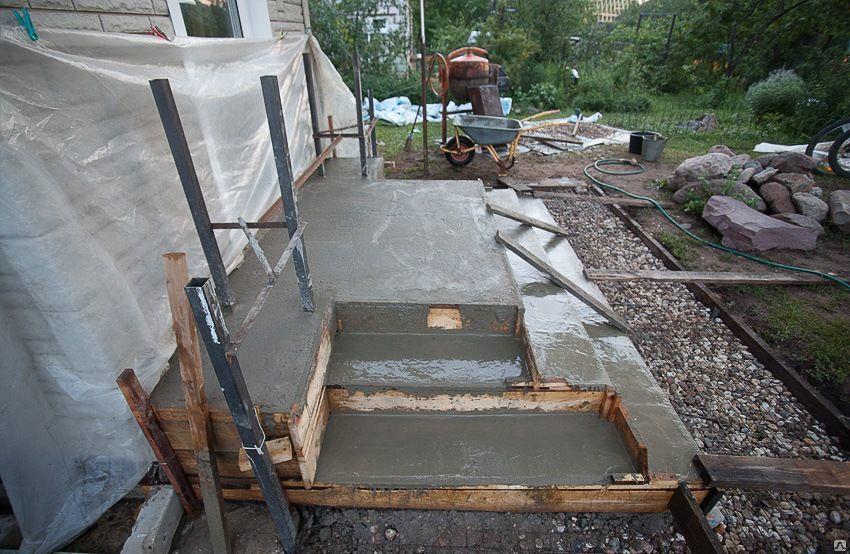 Крыльцо своими руками из бетона в частном доме