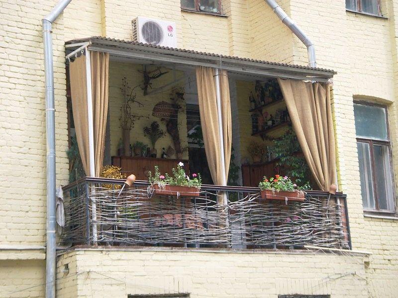 Незастекленный балкон своими руками