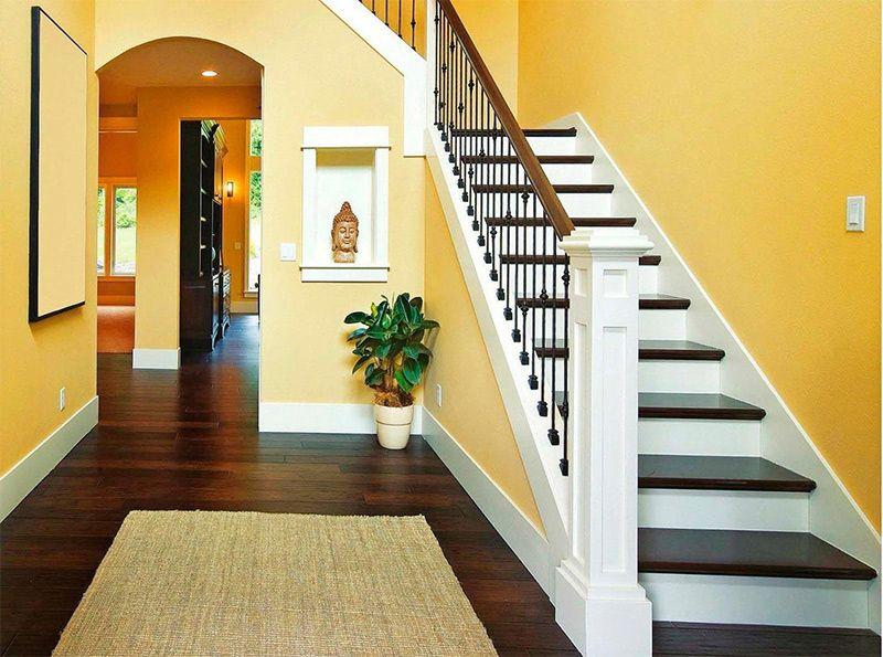 Лестницы на второй этаж в частном доме схема из дерева