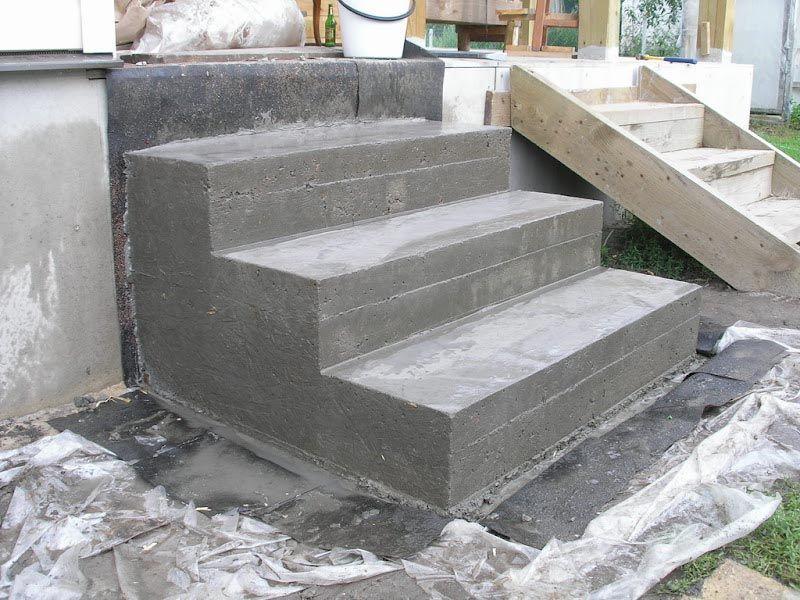 Как сделать крыльцо бетонное в дом своими руками