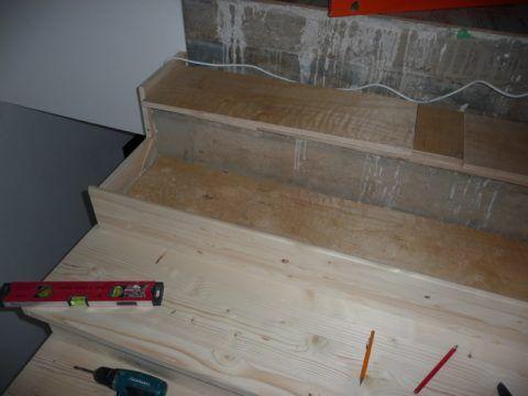 Деревянное покрытие для бетонного крыльца