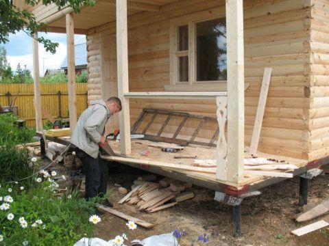 Деревянному дому – деревянные перила