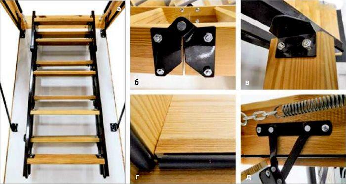 Как своими руками сделать складную лестницу 38