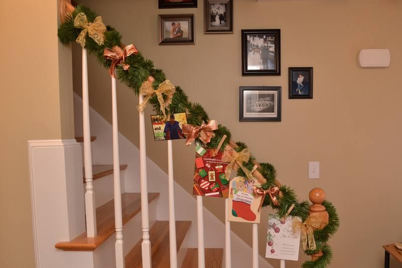 Украшение лестницы на новый год своими руками