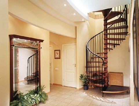 Интерьер деревянного дома, лестницы