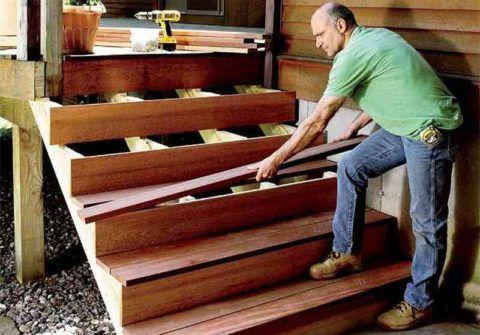 Изготовление лестниц и установка ее элементов