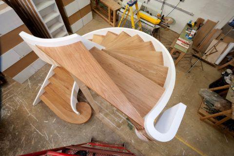Изготовление лестницы из дуба