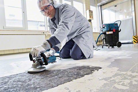 Как отделать ламинатом бетонную лестницу: шлифование бетона машинным методом