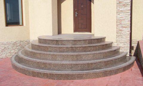 Как сделать круглое крыльцо из бетона
